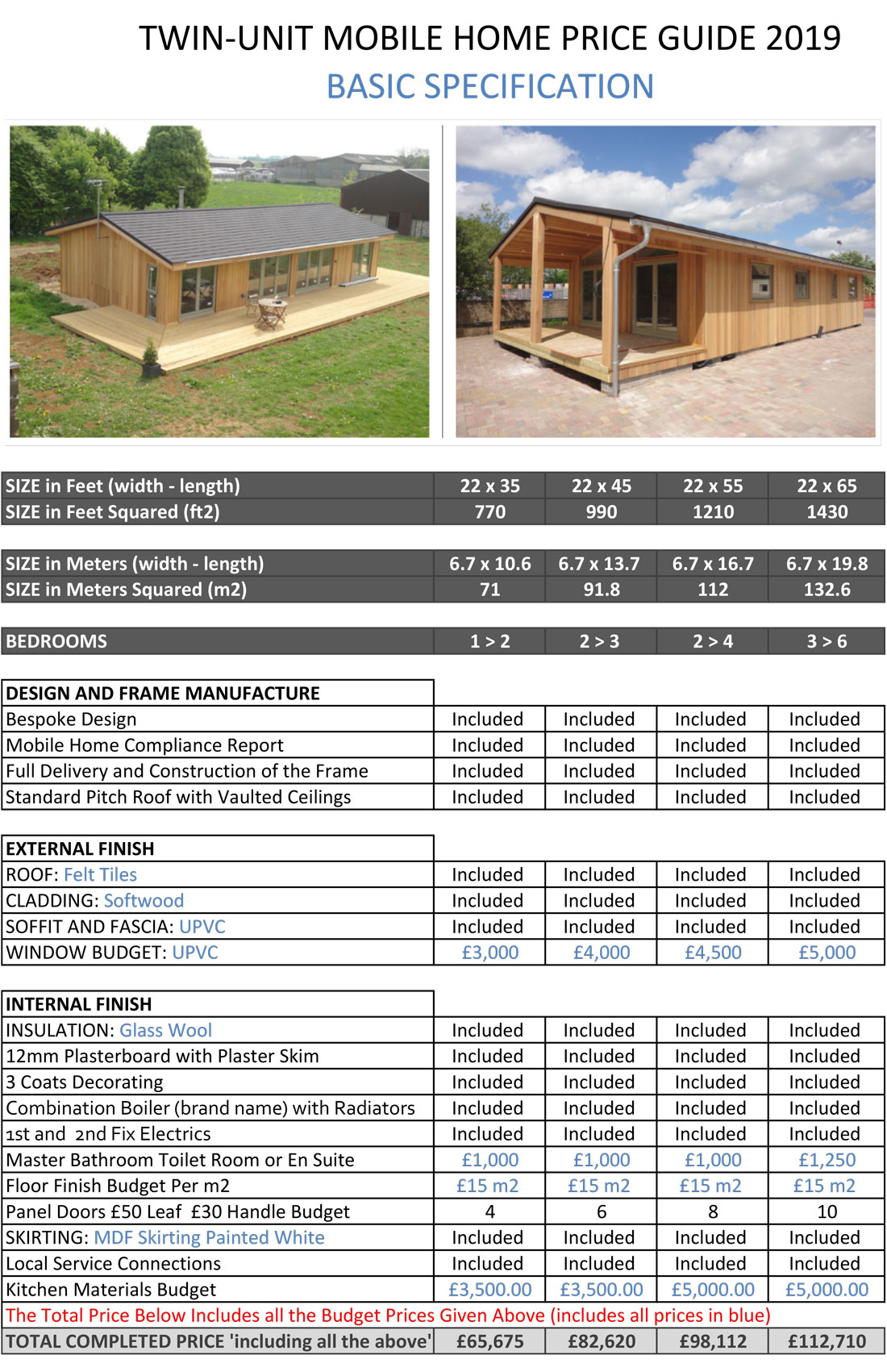 prices - Self Build Timber Frame