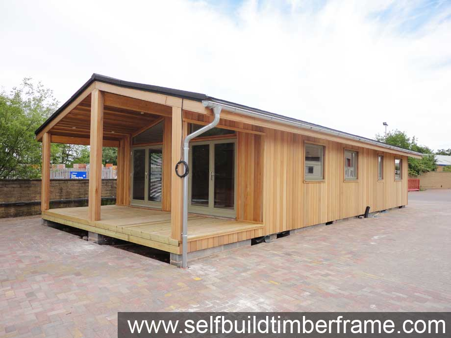 Log cabin mobile home self build timber frame - Second hand mobile homes freedom in motion ...
